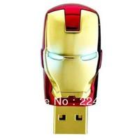 32G 64G 128G Gold Metal Man Model Memory Usb Flash Stick Thumb Pen Drive With Retail Packaging
