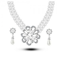 2014 new coming charming  wedding set /fashion women 925  sterling silver  crystal necklace /earrings set G024