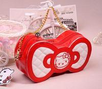 Sanrio Hello Kitty new 2014  Women Messenger Bags Women Handbag Hello Kitty Leather Bags Girls Messenger Bag Band New Bags