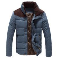 Men's Winter Warm Thermal Wadded Jacket Cotton-padded coat Winter Slim