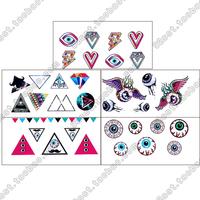 Set tattoo stickers personalized tattoo stickers t086-090