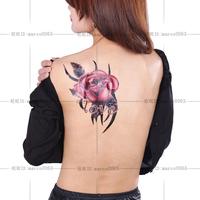 Ultralarge tattoo stickers waterproof female flower back tattoo stickers h23