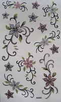 Flower tattoo paper tattoo stickers print paper print stickers aa060