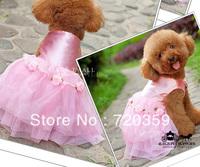 Free shipping! Shine princess pink dress pets Wedding dress for dogs ,pets Wedding Accessory