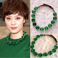 Green big gem necklace cxt95150