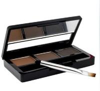 (Min Order $10) High Quality Water proof Tutu three-color chocolate eyebrow shadow powder Enhancer