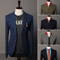 New Brand Hot fashion 2014 long blazer men,Slim Casual male Autumn/Winter suit /jacket  Wholesale&Retail Drop shiping