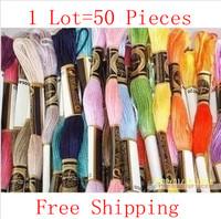 Best Quality 8m Long, 6 Shares Cross Stitch Thread Similar DMC Thread Free Shipping