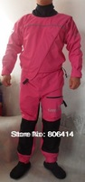 front zipper enter lady pink color dry suit Jet Skiing,Kite Surfing,Sports Boat  Semi dry suits for sailing,fishing,kitesuring