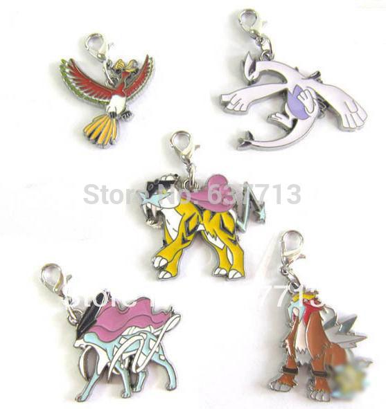 pokemon anime raikou juguetes de metal de colores de la figura de la ...