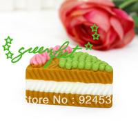 Three layer sandwich cake oil soap handmade oil soap lattice shop creative purchase wholesale/ Free Shipping