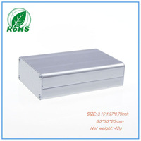 5pcs/lot Aluminum Electronics Project Enclosure Control Box 80*50*20mm 3.15*1.97*0.79inch