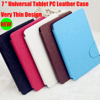 5PCS/Lot Good Quality 7Inch Universal Tablet PC PU Leather Case Flip Luxury Cover Cases For Q88  Black or Brown Color In Stock