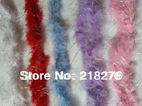 Shinning Paillette Chicken Feather Strip Marabou Feather Boa for Wedding Party  DIY Flower Decoration  Multiple Colors