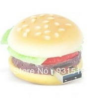 Wholesale full capacity Funny hamburger Shape Genuine 8GB 16GB USB Memory Stick Flash Pen Drive Gift  20pcs/lot