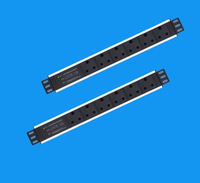 rack mount PDU  south Africa type 1.5U 6 ways with anti-light anti-surge device