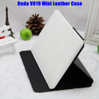 5PCS/Lot Original 7.9inch Onda V819Mini Tablet PC PU Leather Case Flip Cover Cases White/ blue/black Color In Stock