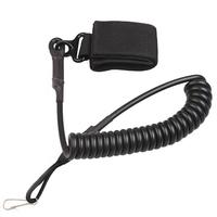 Adjustable Tactical Pistol Hand Gun sling Secure Spring Lanyard Sling with Belt Velcro Outdoor Combat Gear