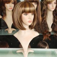 JF94 Fashion Short Mixed Light Brown mix BOB Wig +wigs hairnet
