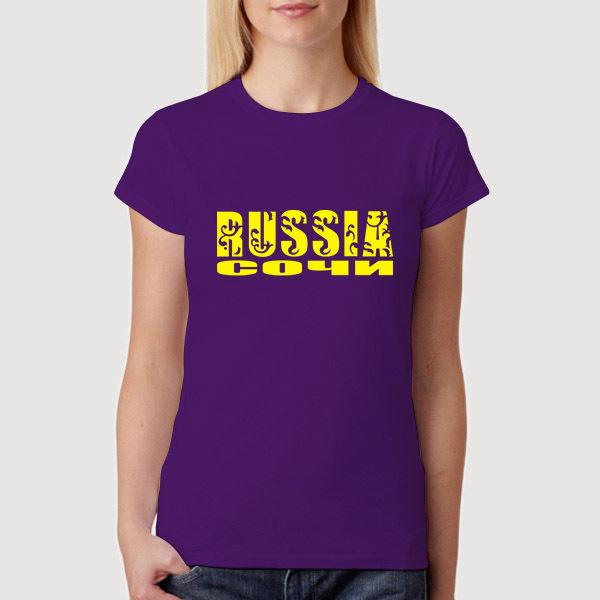 a rússia para sochi 2014 futebol copa do mundo de comprar algodão camiseta online para as mulheres