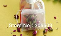 Free shipping!! Empty Nylon teabag.6*7cm with thread