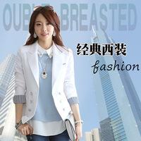 2014 Spring Autumn Korean Ol New Fashion Candy Colore Slim Fit Women Blazers Manga Feminino Chaqueta Casaco Abrigo Femininas