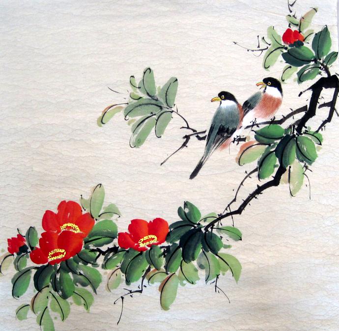 online kaufen gro handel chinese painting of birds aus. Black Bedroom Furniture Sets. Home Design Ideas