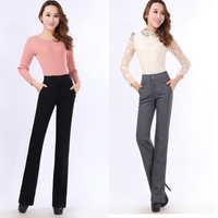 Winter woolen pants small straight trousers slim woolen material thermal female trousers
