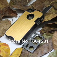 For iphone 4 case  2pcs 1 lot any color by post For iphone4 4S  knife protector case Factory price