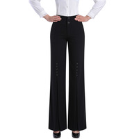 Autumn new arrival anti-wrinkle trousers fashion trousers high waist long trousers female dance pants