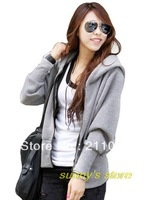 Women autumn winter plus size bat sleeve hooded zip cardigan loose sweater casual fashion hoodies,R93,DY,D428,912#