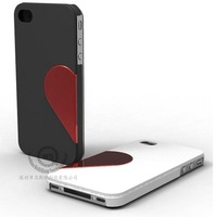 For iphone 4 4s couple case heart style matte design