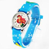 Free shipping 1pc Cute Mermaid Girls Fashion Casual Cartoon Children's Silicone Watch Chrismas gift Watch, C15