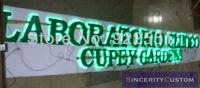 customized 3D metal channel letters led backlit lighting sign letters for garden advertising