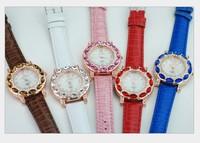 free shipping 10pcs/lot women watch girls watch fashion diamond belt watches 5 colors