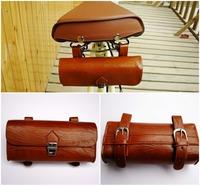 High Quality Comfortable Soft Vintage Bicycle Saddle Tool Bag Tail Bag cj282