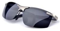 free shipping brand new men aluminum-magnesium polarized sunglasses male metal eyewear fashion driving glasses