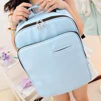 Free shipping 2014 preppy style backpack PU big backpack laptop bag travel bag