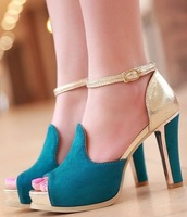 CooLcept free shipping high heel shoes women sexy dress footwear fashion lady spring pumps P11296 hot sale 34-39