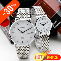 Free Shipping,Top Quality Longbo Brand Quartz Super Slim Dial,Men's Business Full Stainless Steel Band Swiss Waterproof Watches
