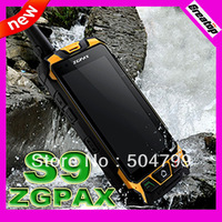 Original ZGPAX dual core S9 mobile phone Waterproof IP67 android 4.2 MTK6572 RAM512MB+4GB walkie talkie phone SG post free ship