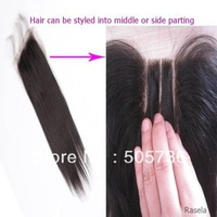 "4x4 Unprocessed brazilian virgin untreated hair lace top closure straight  lace closure 8""-20"""