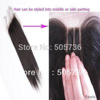 "4x4 Unprocessed brazilian virgin hair lace top closure straight  lace closure 8""-20"""