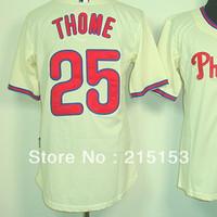 American Philadephia #25 Thome Jerseys Embroidery logos Men's Baseball Jerseys Mix Order Free Shipping