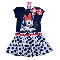 wholesale 2014 Summer New girl tutu dresses minnie mouse costume children's dress bow kids dresses for girls brand clothing lot