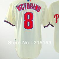 American Philadephia #8 Shane Victorino Jerseys Embroidery logos Baseball Jerseys Victorino Mix Order Free Shipping