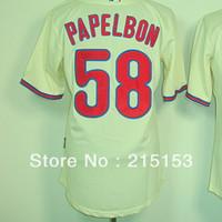 Philadephia Phillies Baseball Jerseys Embroidery logos #58 Papelbon Halladay Men Baseball Jerseys Mix Order Free Shipping