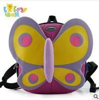 2014 New arrival bobear wholesale &1pcs children backpack kids girls butterfly satchel Kindergarten animal bags school backpacks