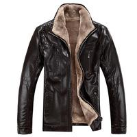2013 winter Thickening Brand New men's Genuine luxury fur sheep leather jackets men's lamb Fur coat Free Shipping