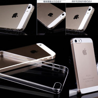 1mm Ultra Thin Slim Transparent Crystal Clear Hard PC Plastic Shell Skin Cover Case For iPhone 5 5S Free Shipping 10pcs/lot